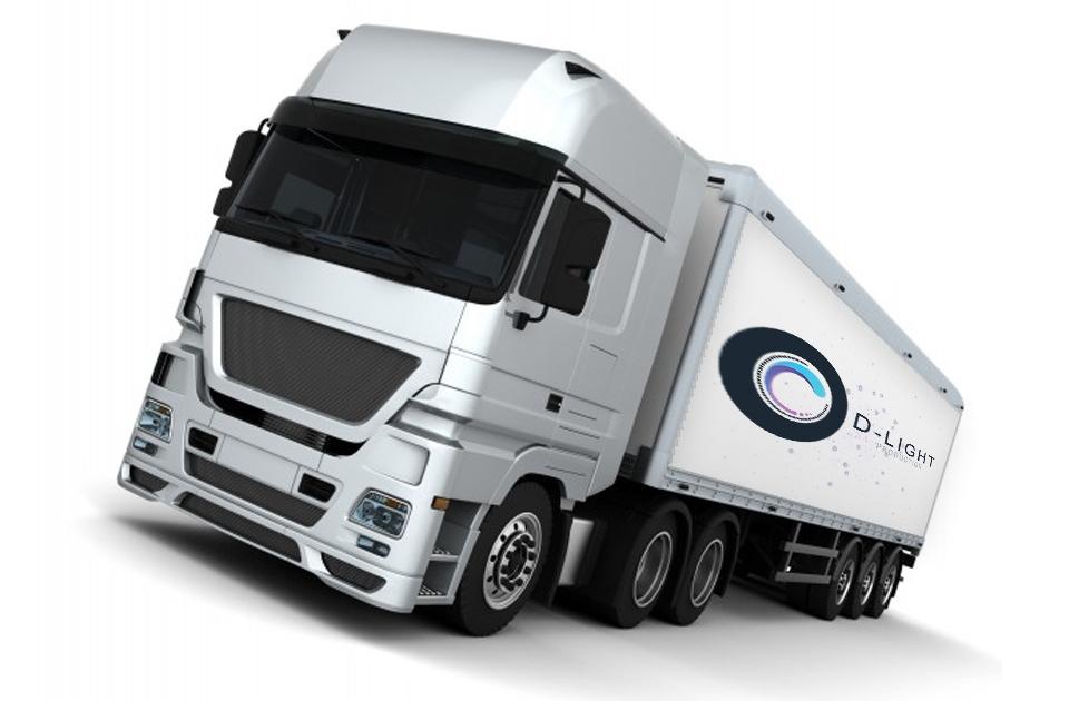 camion régie multicam sur fond blanc