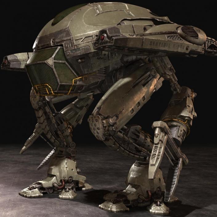 rendu 3d d'une robot de guerre